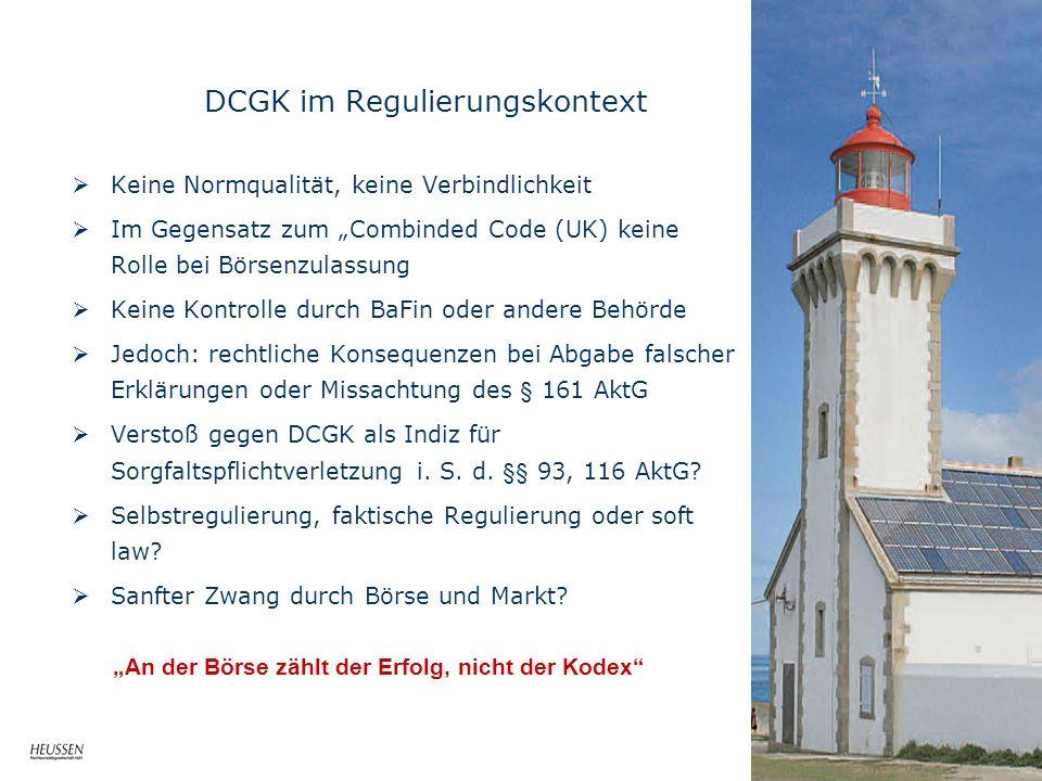 DCGK im Regulierungskontext
