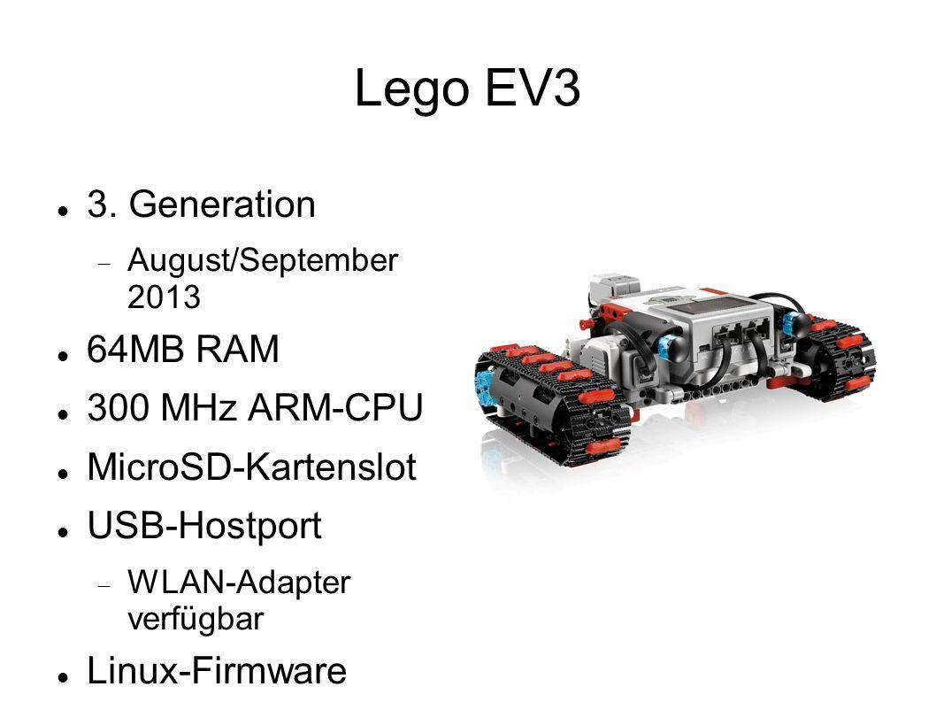 Lego EV3 3. Generation 64MB RAM 300 MHz ARM-CPU MicroSD-Kartenslot