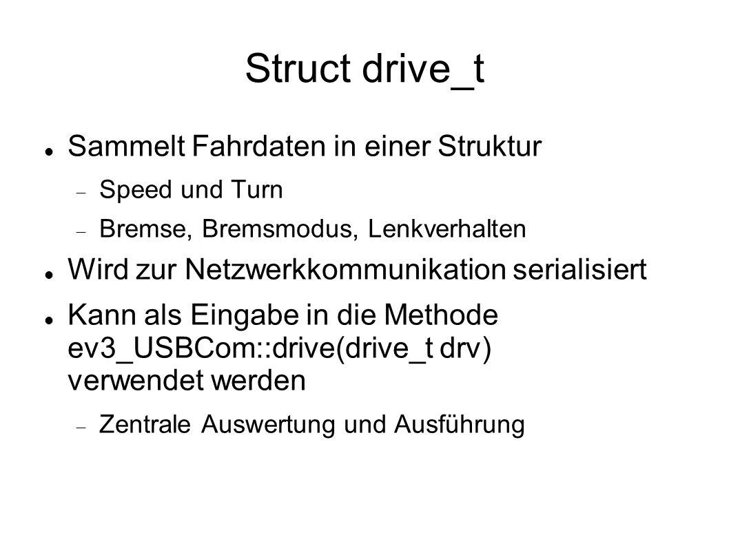 Struct drive_t Sammelt Fahrdaten in einer Struktur