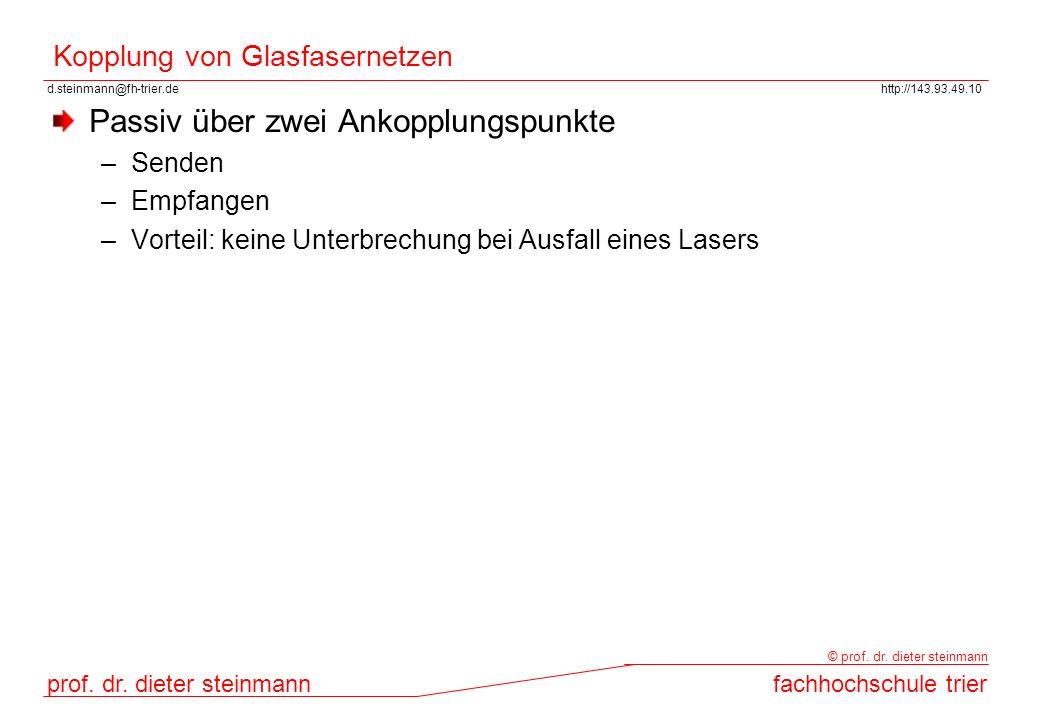 Kopplung von Glasfasernetzen