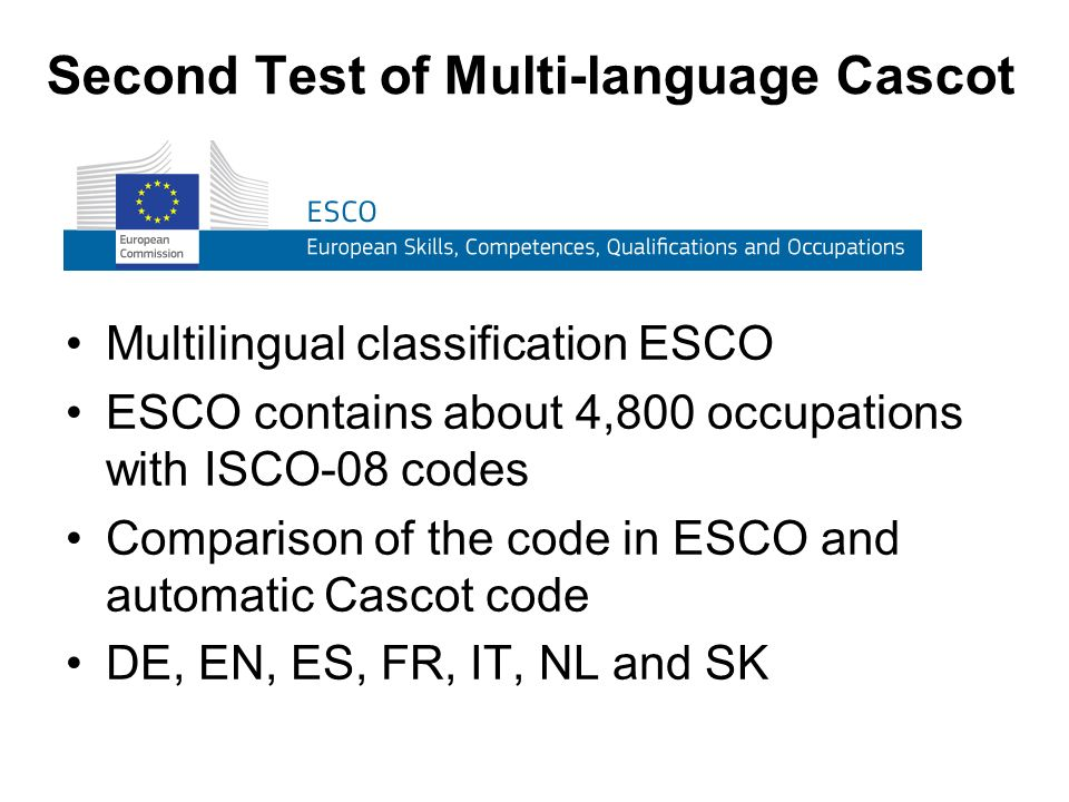Second Test of Multi-language Cascot