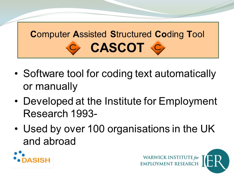 Computer Assisted Structured Coding Tool CASCOT
