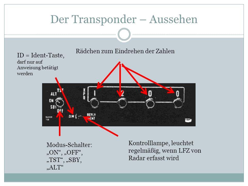 Der Transponder – Aussehen