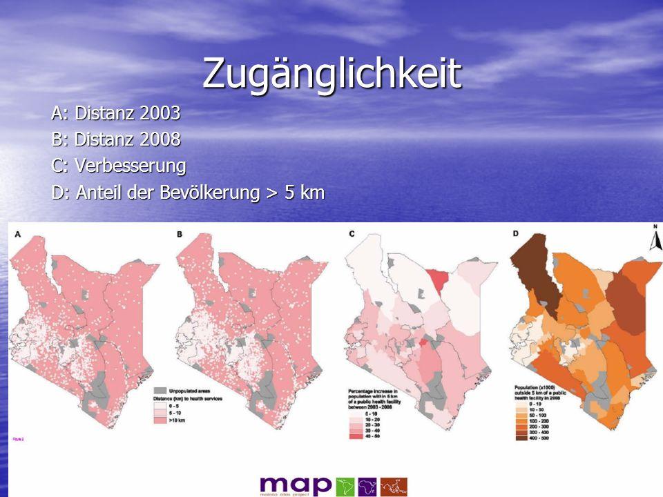 Zugänglichkeit A: Distanz 2003 B: Distanz 2008 C: Verbesserung