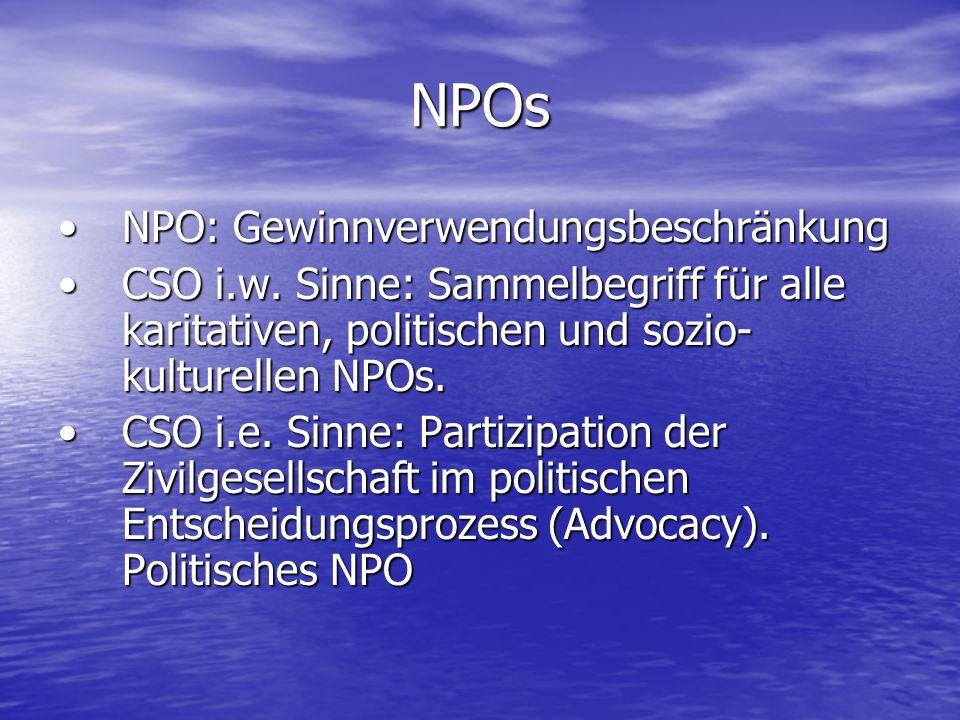 NPOs NPO: Gewinnverwendungsbeschränkung