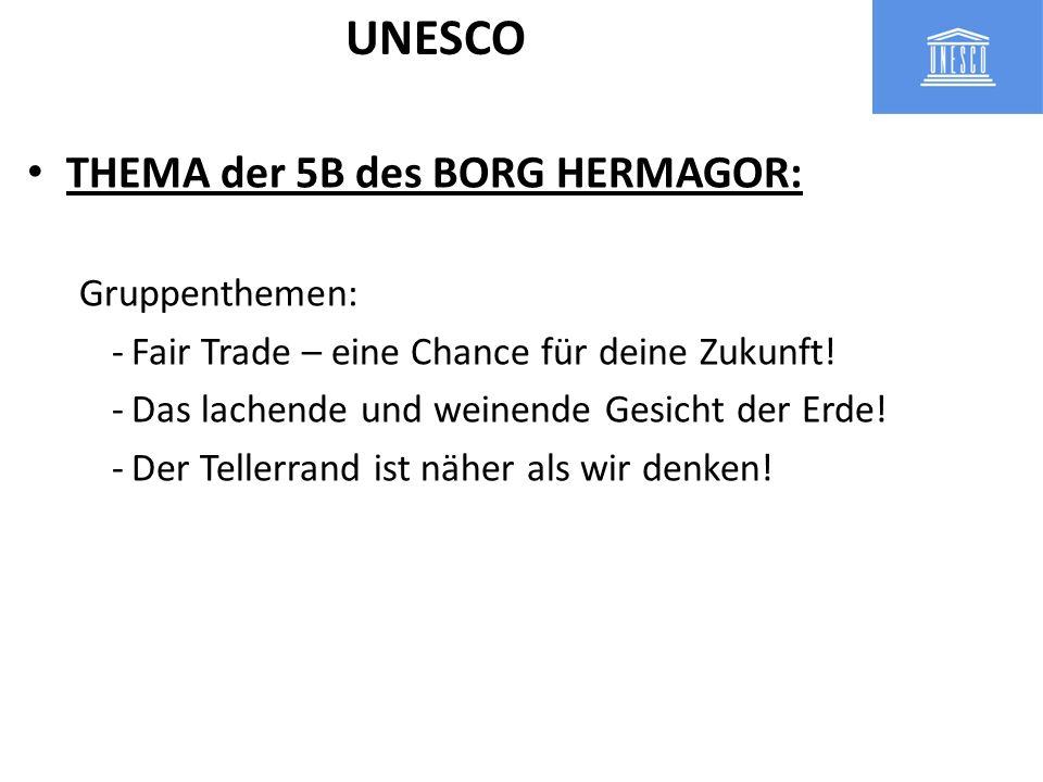 UNESCO THEMA der 5B des BORG HERMAGOR: Gruppenthemen: