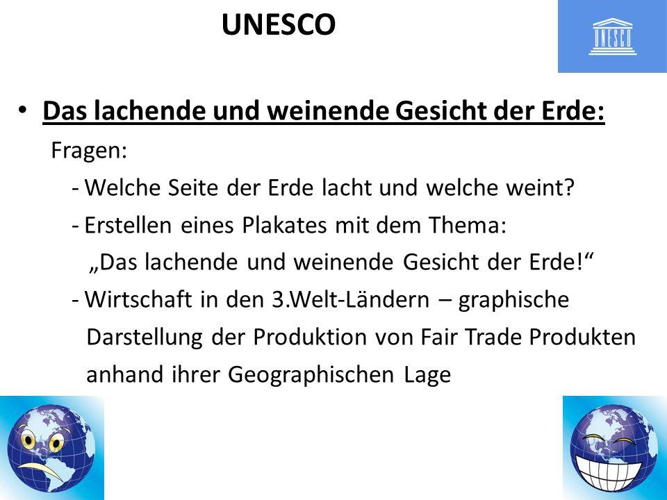 UNESCO Das lachende und weinende Gesicht der Erde: Fragen: