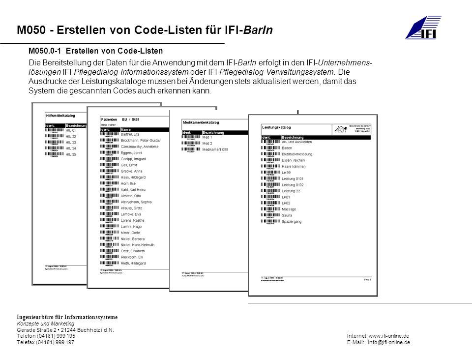 M050.0-1 Erstellen von Code-Listen