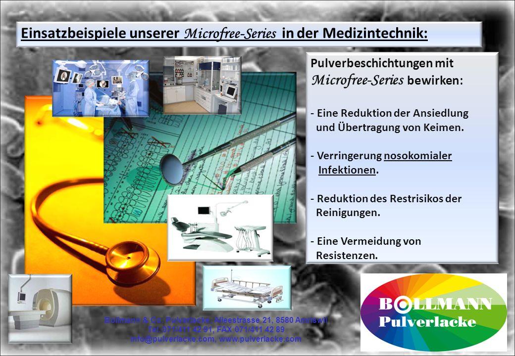 Einsatzbeispiele unserer Microfree-Series in der Medizintechnik: