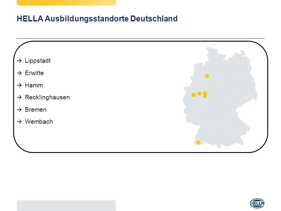 HELLA Ausbildungsstandorte Deutschland