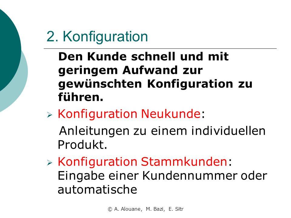 2. Konfiguration Konfiguration Neukunde: