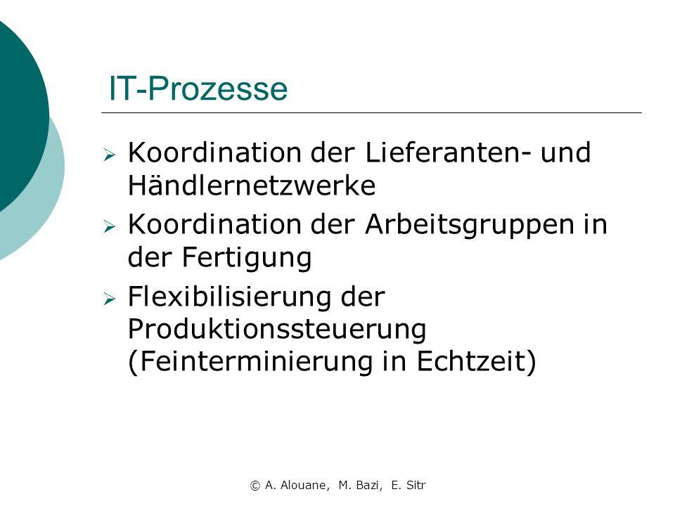 IT-Prozesse Koordination der Lieferanten- und Händlernetzwerke