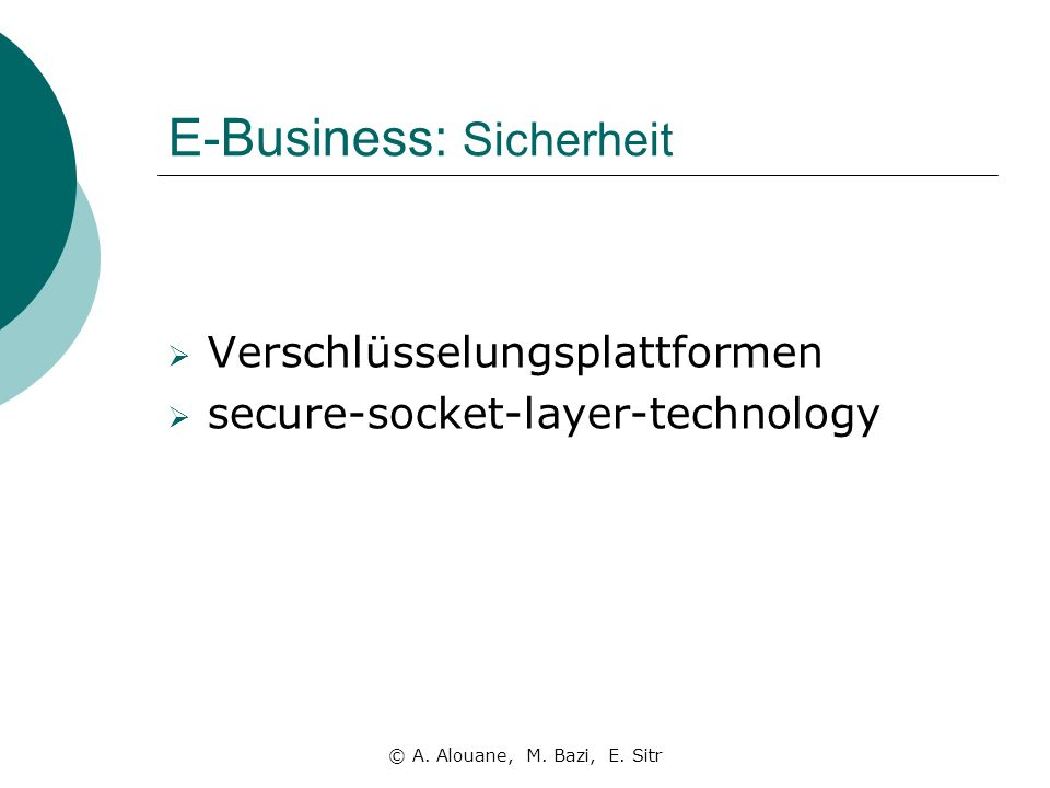 E-Business: Sicherheit