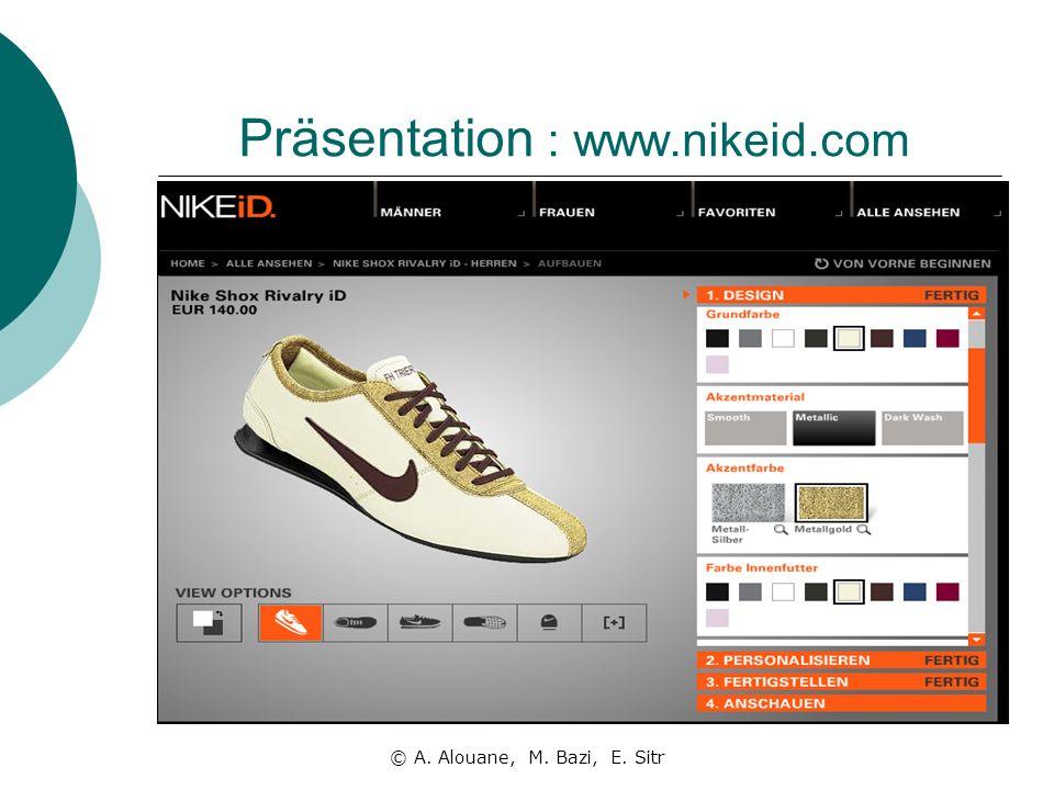 Präsentation : www.nikeid.com