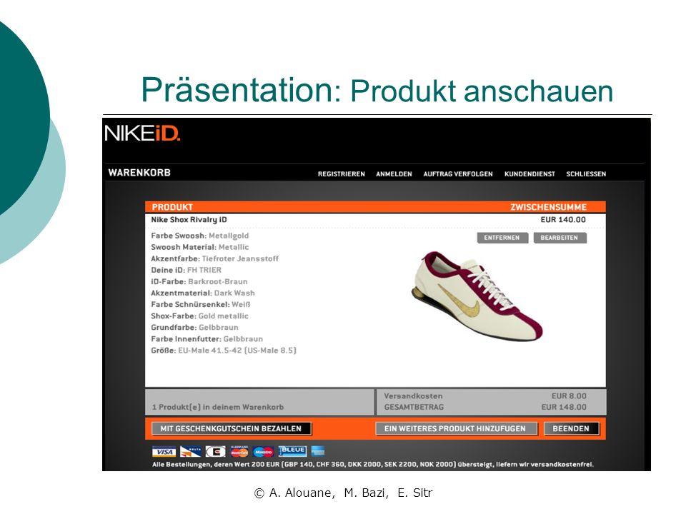 Präsentation: Produkt anschauen