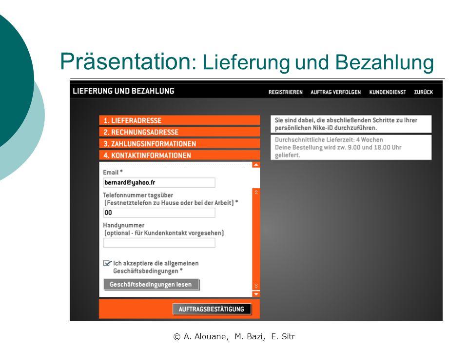 Präsentation: Lieferung und Bezahlung