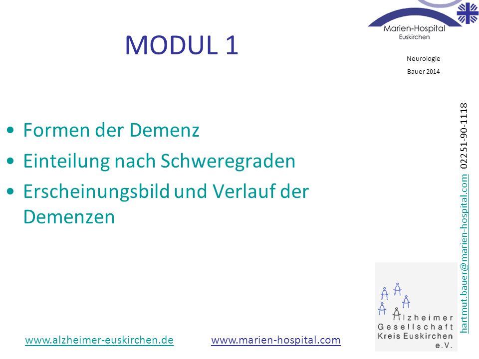 MODUL 1 Formen der Demenz Einteilung nach Schweregraden