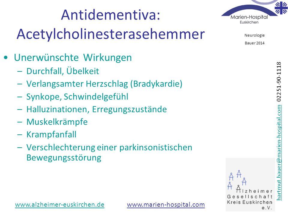 Antidementiva: Acetylcholinesterasehemmer