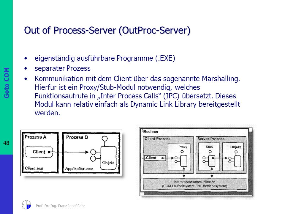 Out of Process-Server (OutProc-Server)