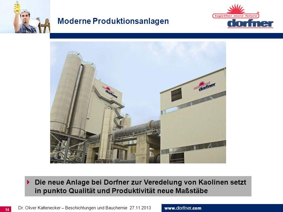 Moderne Produktionsanlagen