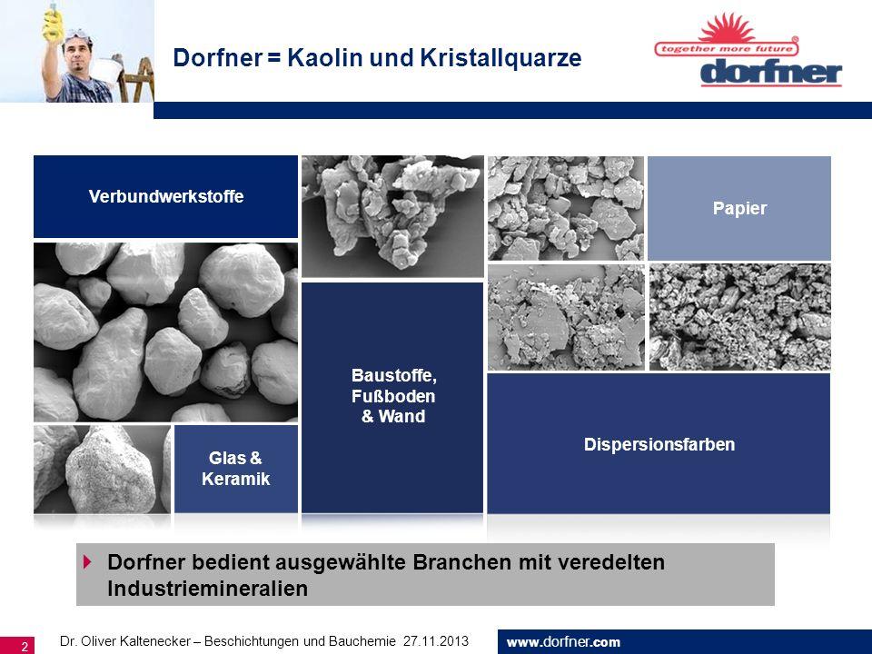 Dorfner = Kaolin und Kristallquarze