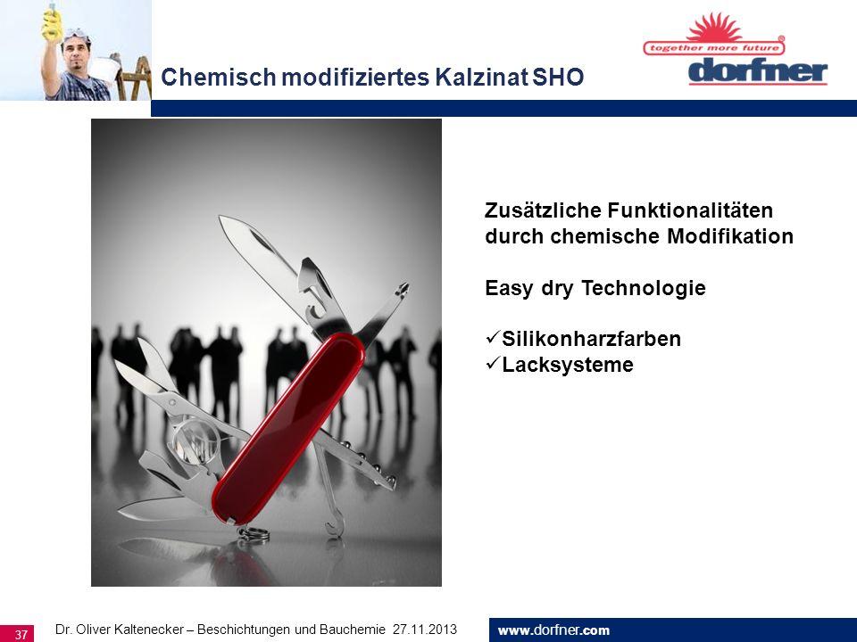 Chemisch modifiziertes Kalzinat SHO