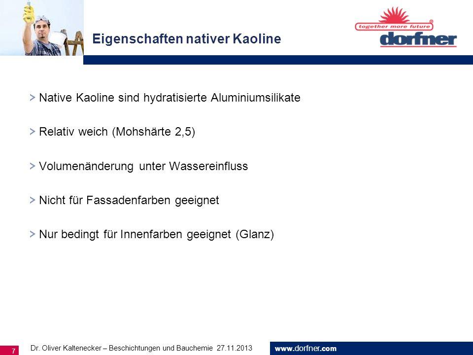 Eigenschaften nativer Kaoline