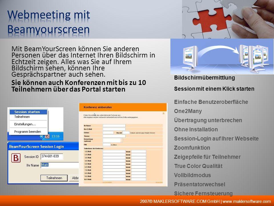 Webmeeting mit Beamyourscreen