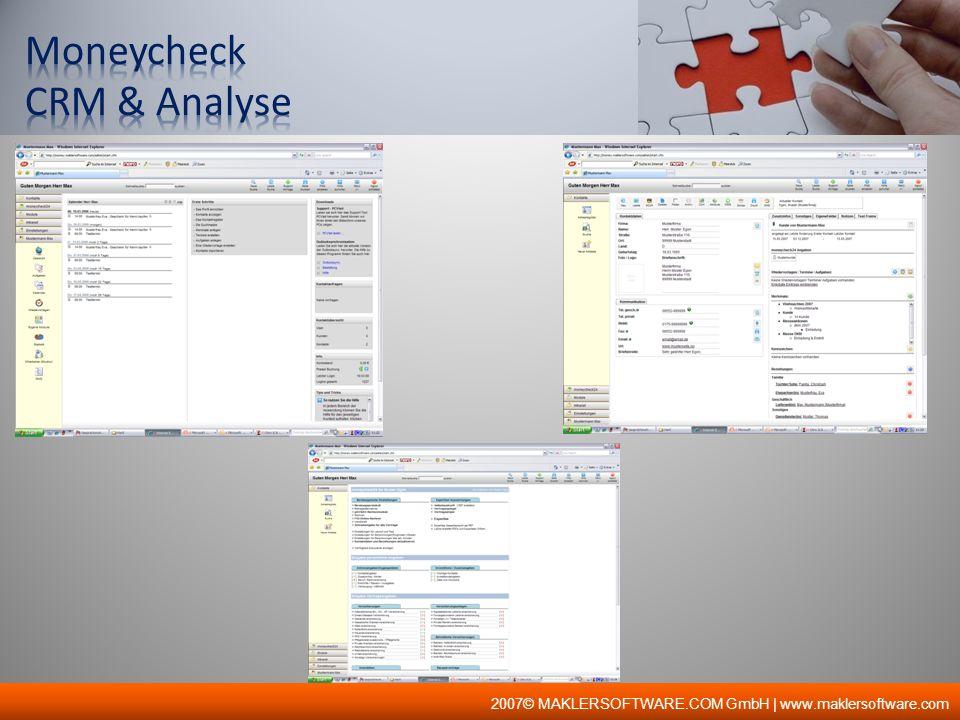 Moneycheck CRM & Analyse