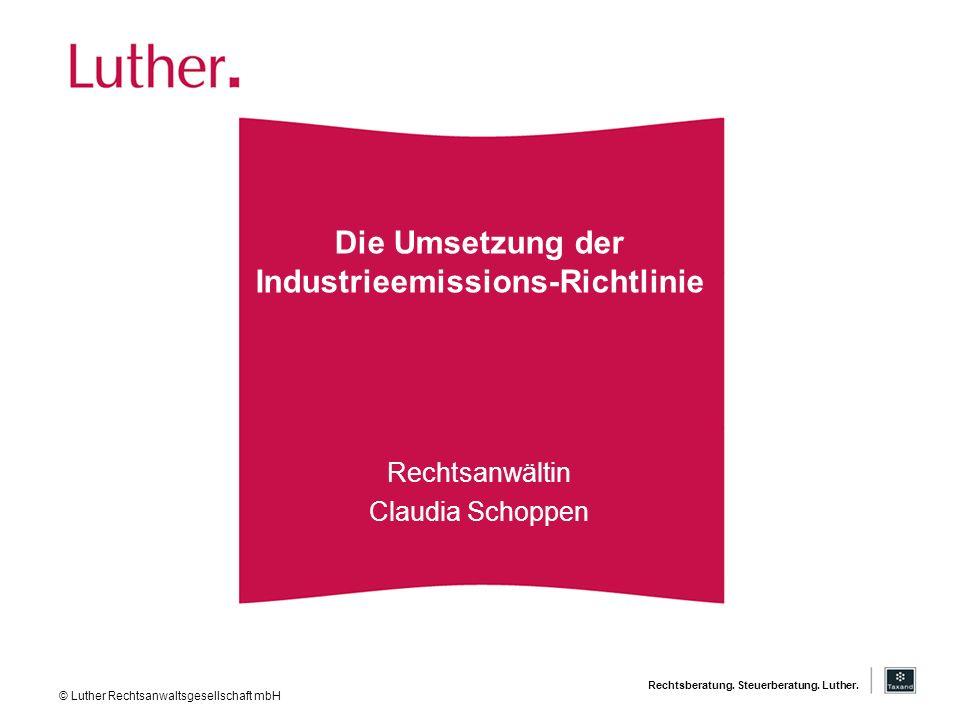 Die Umsetzung der Industrieemissions-Richtlinie