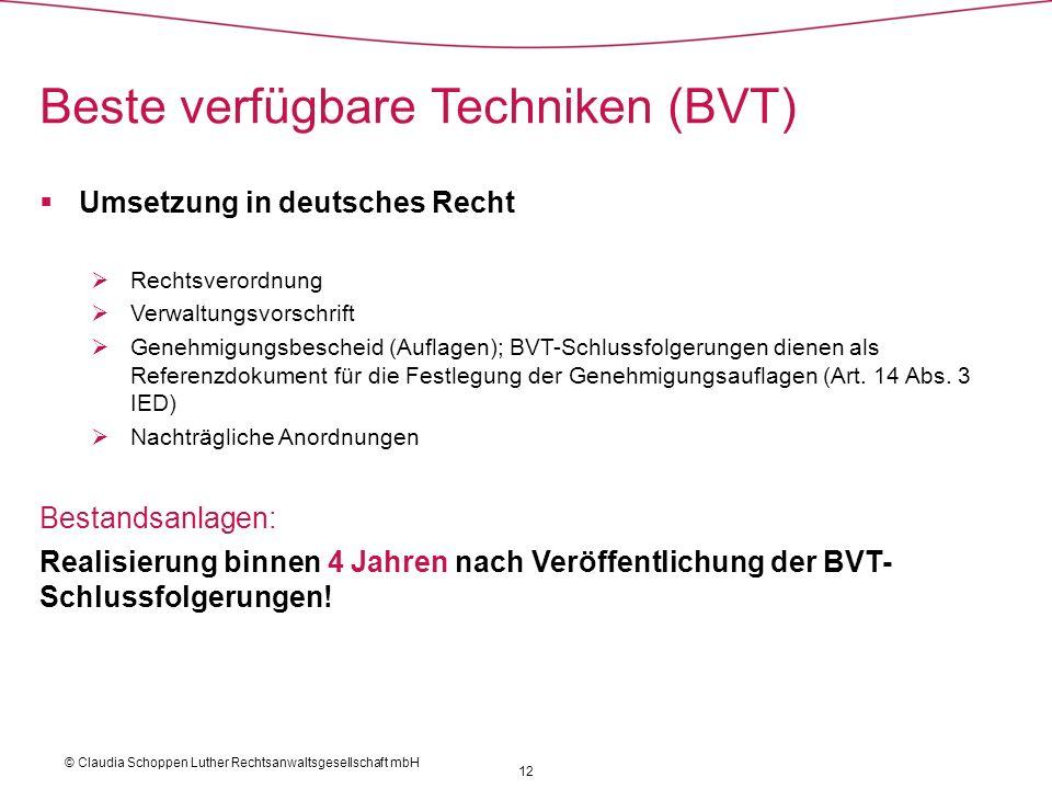 Beste verfügbare Techniken (BVT)