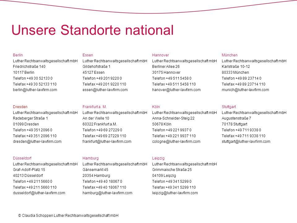 Unsere Standorte national