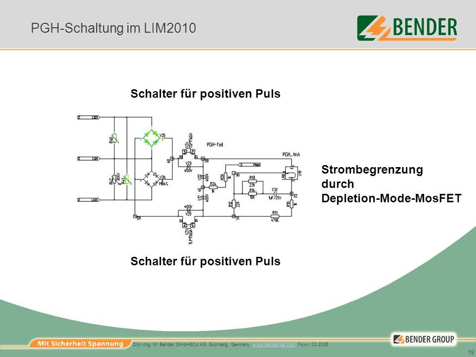 PGH-Schaltung im LIM2010 Schalter für positiven Puls Strombegrenzung