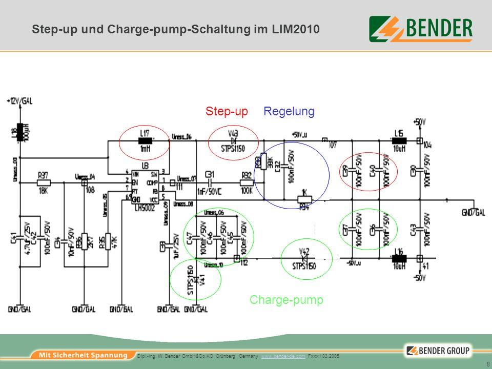 Step-up und Charge-pump-Schaltung im LIM2010