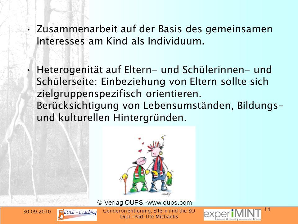 Zusammenarbeit auf der Basis des gemeinsamen Interesses am Kind als Individuum.