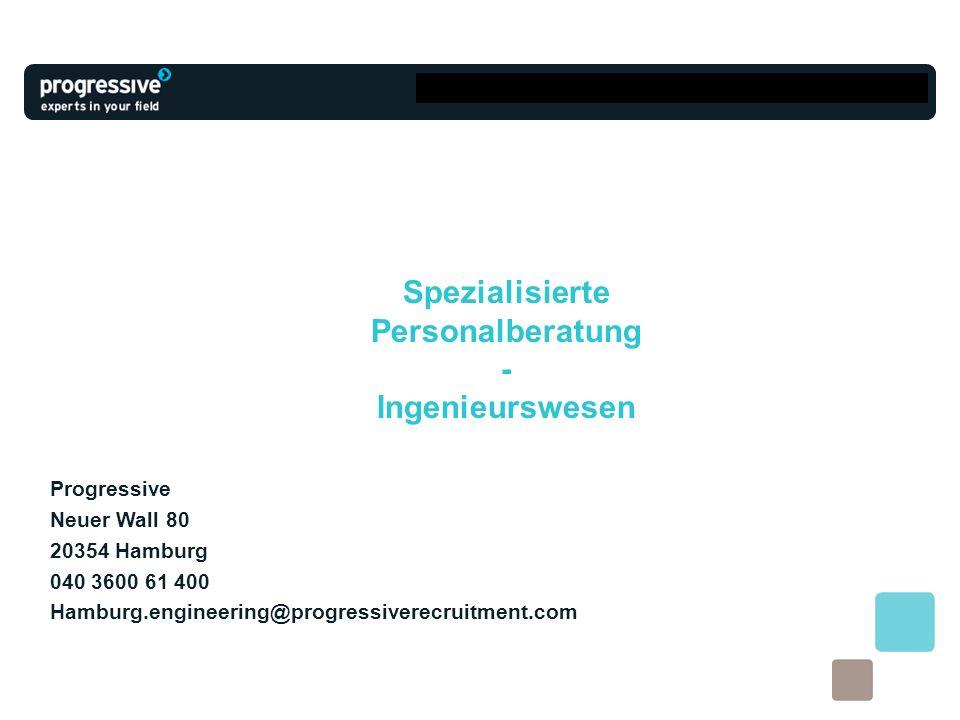 Spezialisierte Personalberatung - Ingenieurswesen