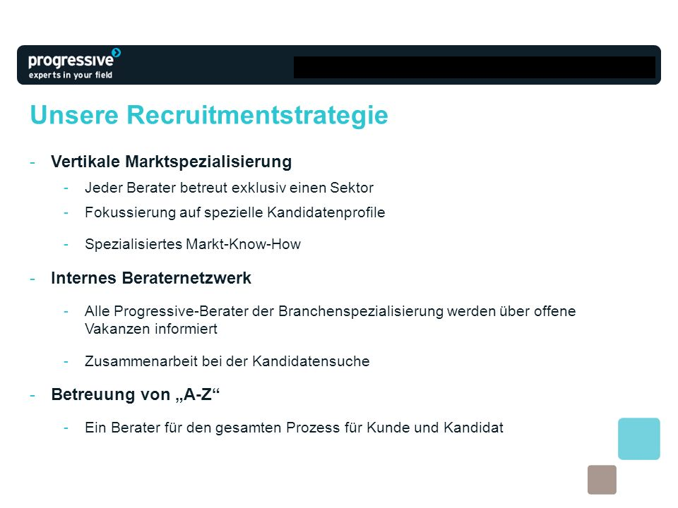 Unsere Recruitmentstrategie