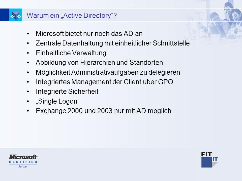 """Warum ein """"Active Directory"""