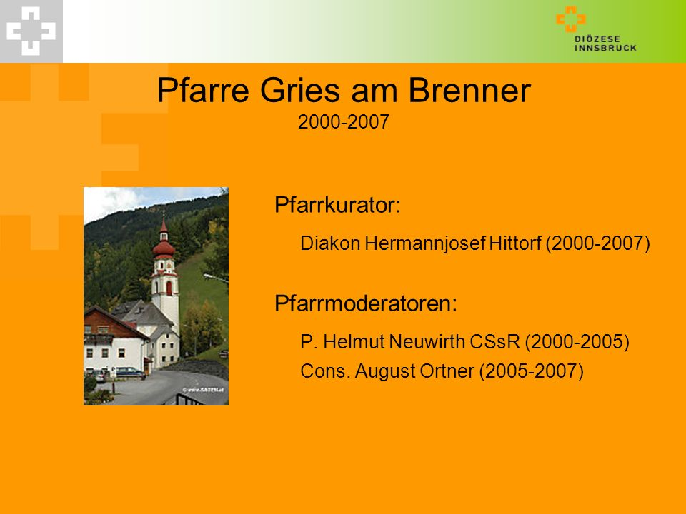 Pfarre Gries am Brenner 2000-2007