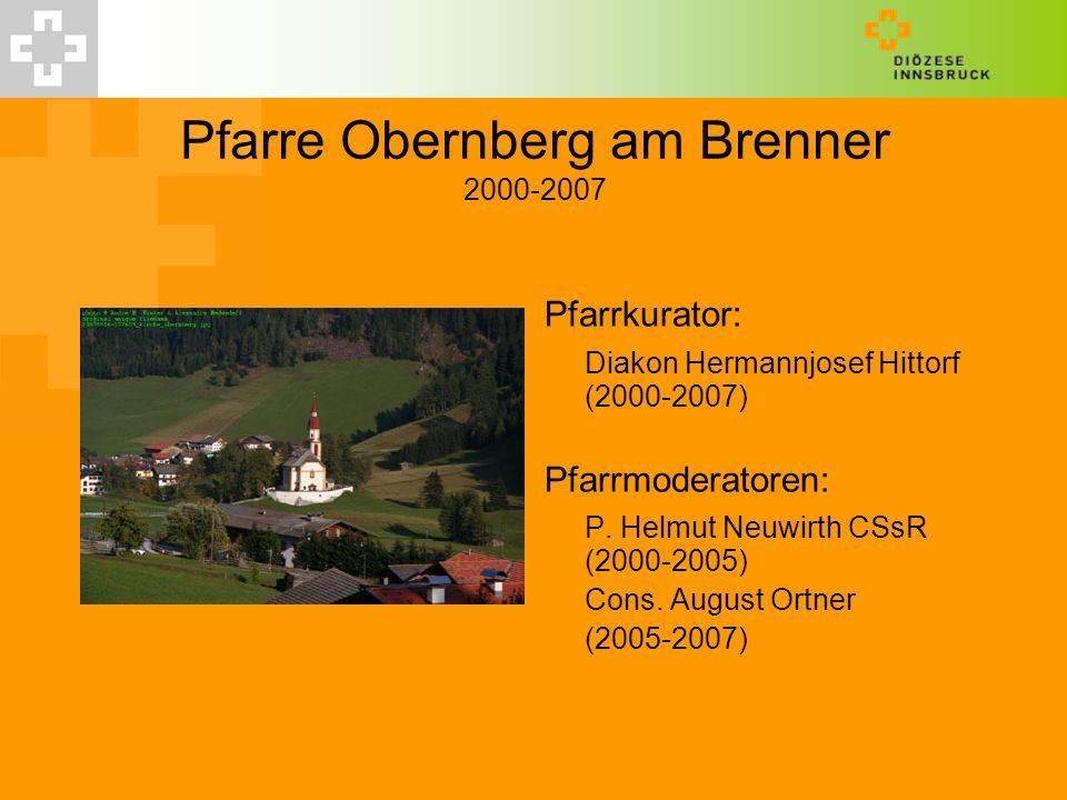 Pfarre Obernberg am Brenner 2000-2007