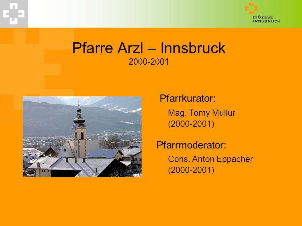 Pfarre Arzl – Innsbruck 2000-2001