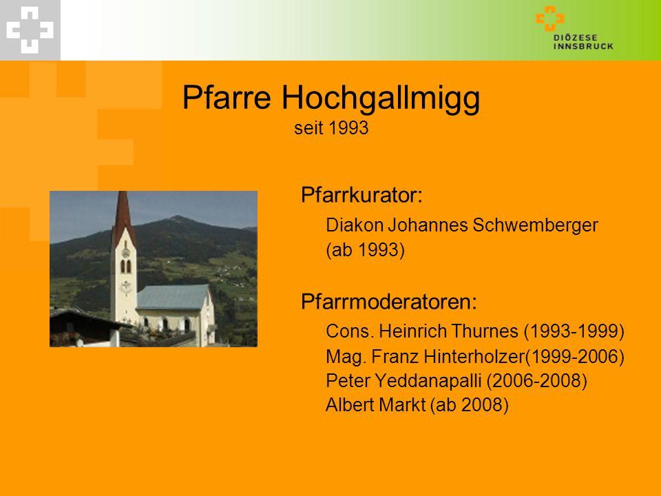 Pfarre Hochgallmigg seit 1993