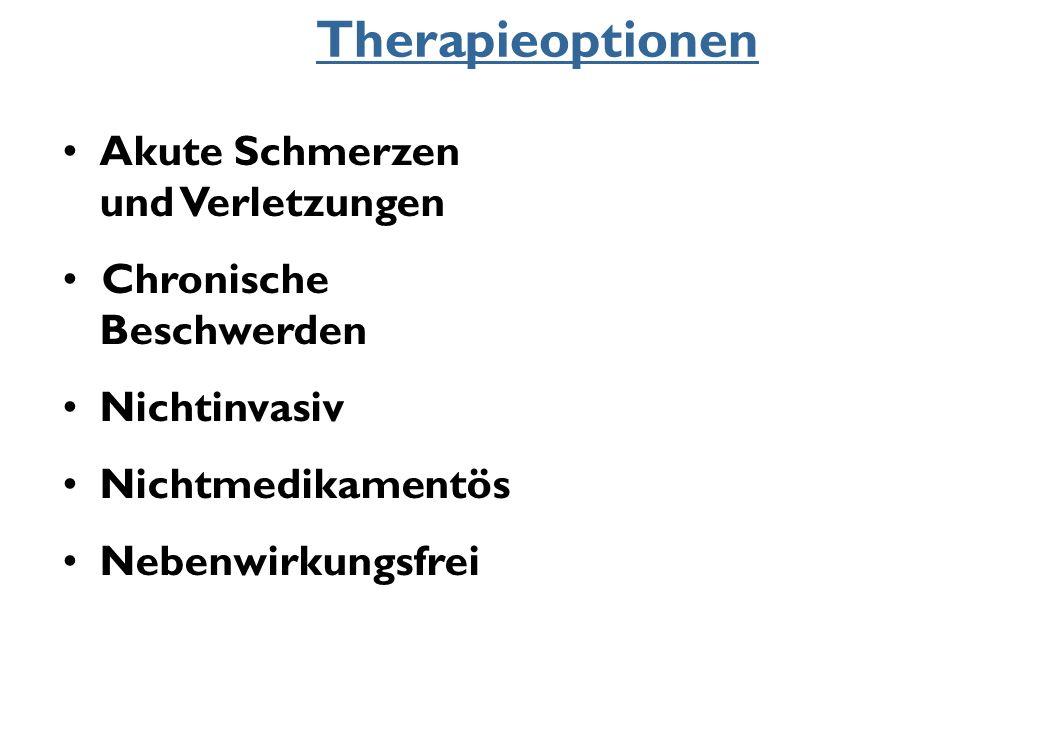 Therapieoptionen Akute Schmerzen und Verletzungen