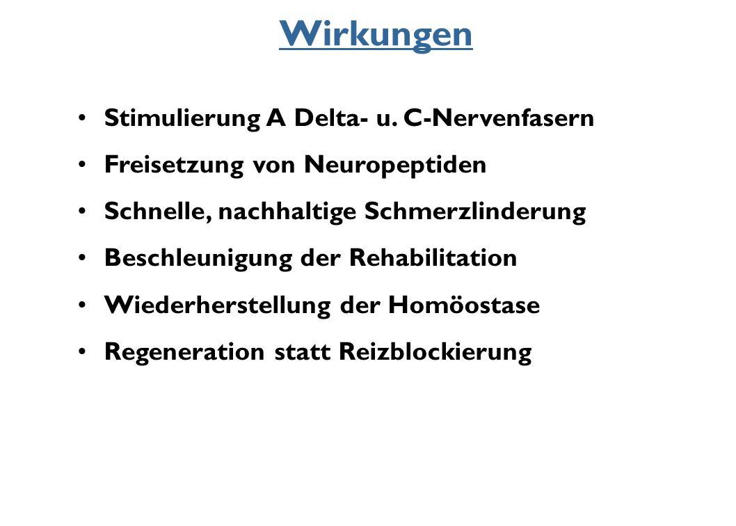 Wirkungen Stimulierung A Delta- u. C-Nervenfasern