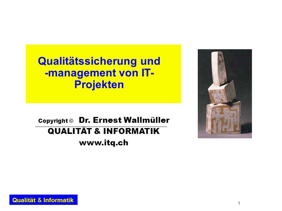 Qualitätssicherung und -management von IT-Projekten
