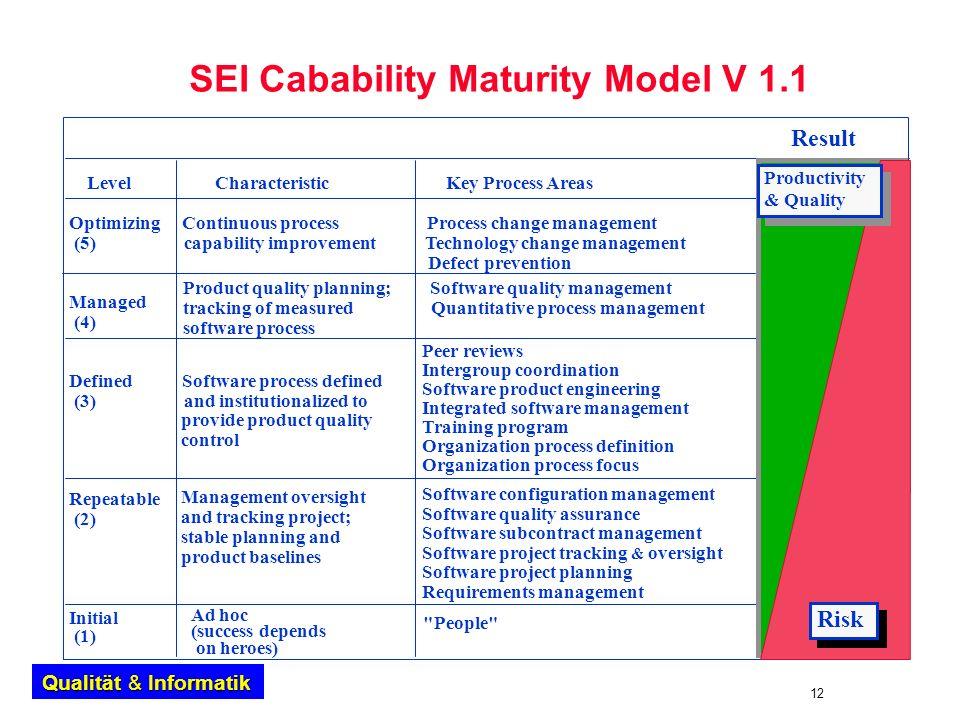 SEI Cabability Maturity Model V 1.1