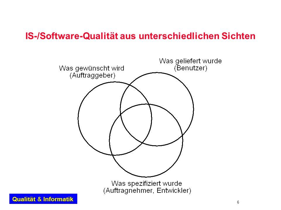 IS-/Software-Qualität aus unterschiedlichen Sichten