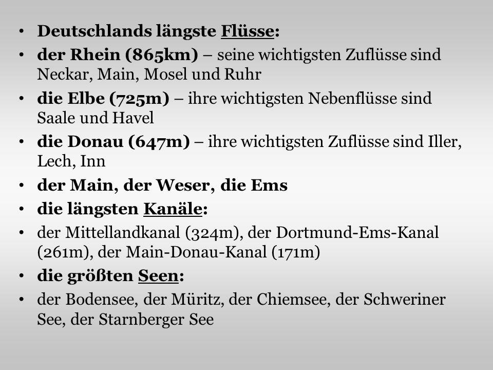 Deutschlands längste Flüsse: