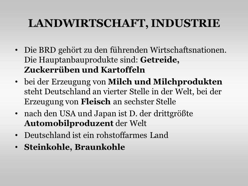 LANDWIRTSCHAFT, INDUSTRIE