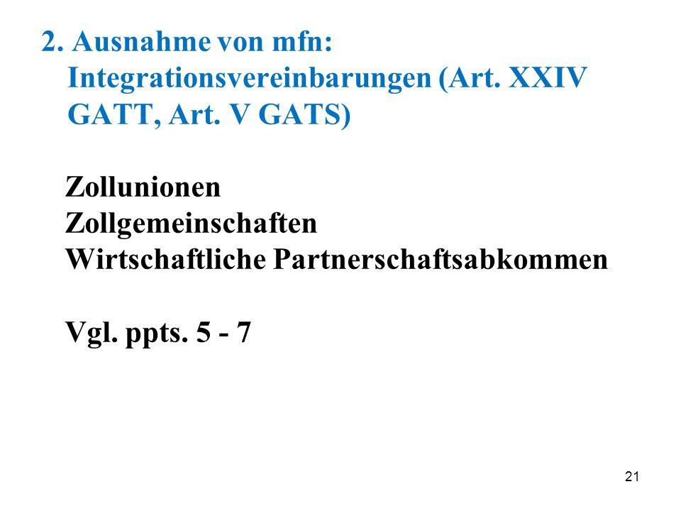 Wirtschaftliche Partnerschaftsabkommen Vgl. ppts. 5 - 7